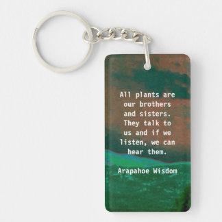 arapahoe tribe wisdom Double-Sided rectangular acrylic key ring