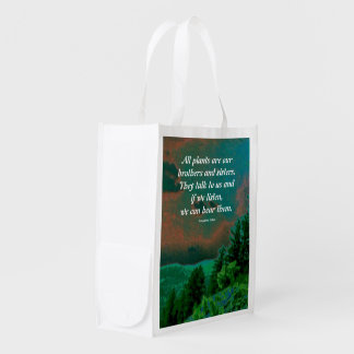 arapahoe tribe wisdom reusable grocery bag