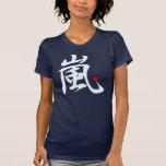 arashi kawaii heart white text t-shirt
