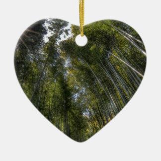 Arashiyama Bamboo Grove - Kyoto, Japan Ceramic Heart Decoration