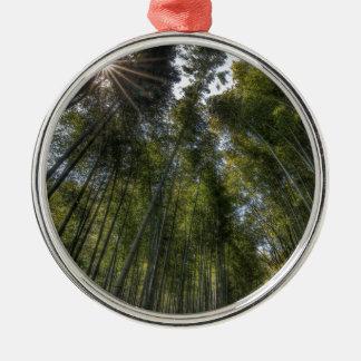 Arashiyama Bamboo Grove - Kyoto, Japan Silver-Colored Round Decoration