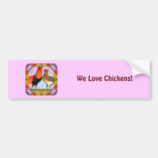 Araucana Chickens Art Nouveau Car Bumper Sticker