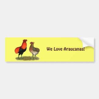Araucana Red Pair Bumper Sticker