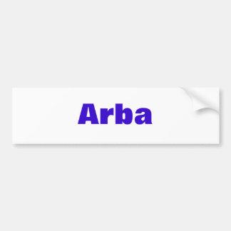 Arba Bumper Sticker
