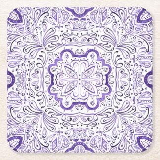 Arbella Purple Watercolour Pattern Coaster Set