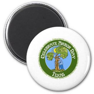 Arbor Day Texas 6 Cm Round Magnet