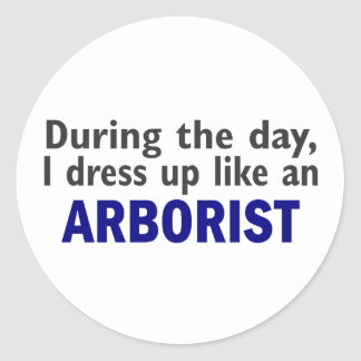 ARBORIST During The Day Classic Round Sticker