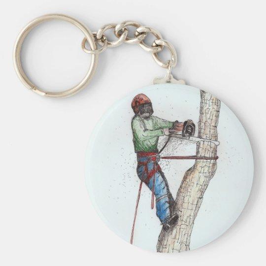 Arborist Tree Surgeon Stihl Basic Round Button Key Ring