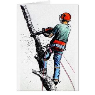 Arborist Tree Surgeon Stihl Card
