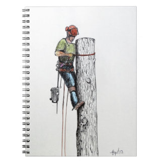 Arborist Tree Surgeon Stihl christmas present Notebook