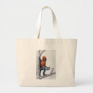 Arborist Tree Surgeon Stihl Large Tote Bag