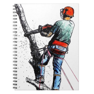 Arborist Tree Surgeon Stihl Spiral Notebook