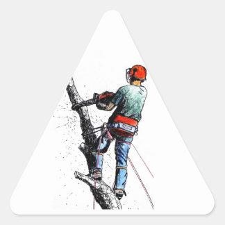 Arborist Tree Surgeon Stihl Triangle Sticker