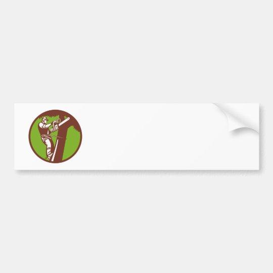 Arborist Tree Surgeon Trimmer Pruner Bumper Sticker