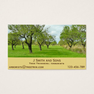 Arborist tree trimming service modern design business card