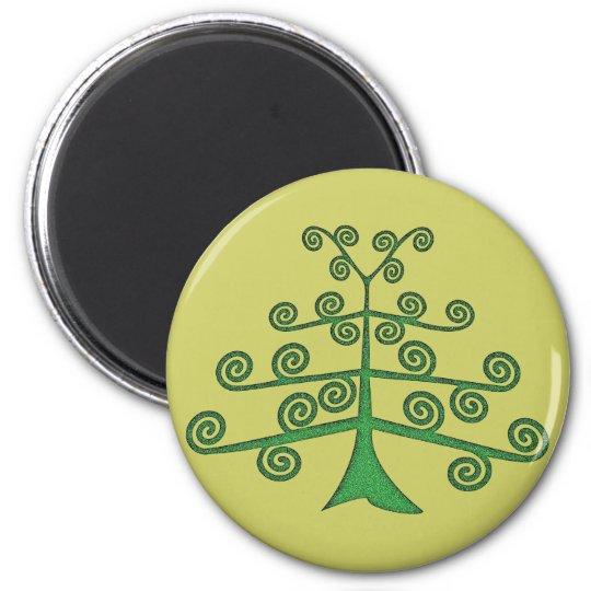 Arborvitae tree OF life 6 Cm Round Magnet