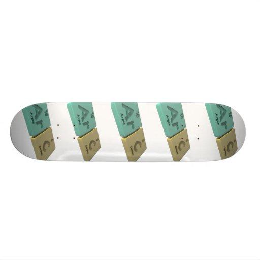 Arc as Ar Argon and C Carbon Custom Skateboard
