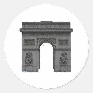 Arc de Triomphe: 3D Model: Round Sticker