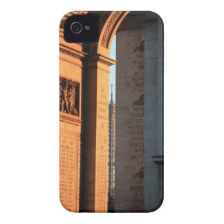 ARC DE TRIOMPHE and EIFFEL tower 2 iPhone 4 Case-Mate Case