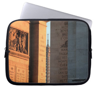 ARC DE TRIOMPHE and EIFFEL tower 2 Laptop Sleeve