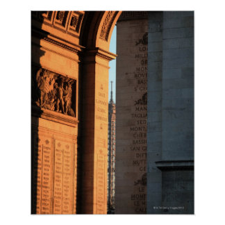 ARC DE TRIOMPHE and EIFFEL tower 2 Poster