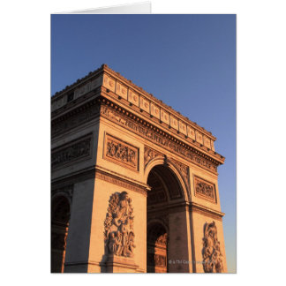 ARC DE TRIOMPHE and EIFFEL tower Card