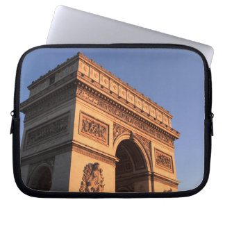 ARC DE TRIOMPHE and EIFFEL tower Laptop Sleeve