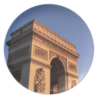 ARC DE TRIOMPHE and EIFFEL tower Plate