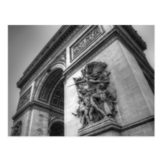 Arc de Triomphe b/w Postcard