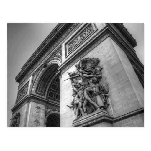 Arc de Triomphe b/w Postcards