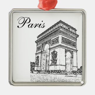 Arc de Triomphe Christmas Ornament