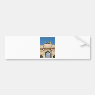 Arc de Triomphe du Carrousel in Paris, France Bumper Sticker