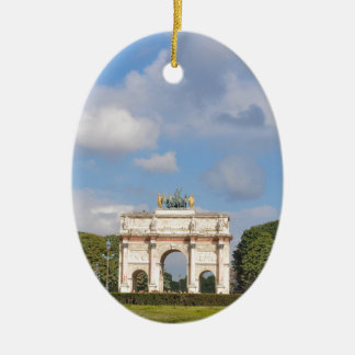 Arc de Triomphe du Carrousel in Paris, France Ceramic Oval Decoration