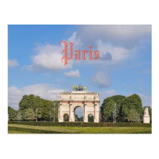 Arc de Triomphe du Carrousel in Paris, France Postcard