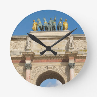 Arc de Triomphe du Carrousel in Paris, France Round Clock