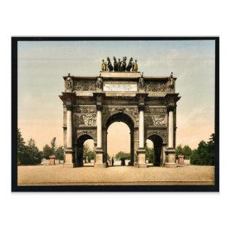 Arc de Triomphe, du Carrousel, Paris, France vinta Postcard