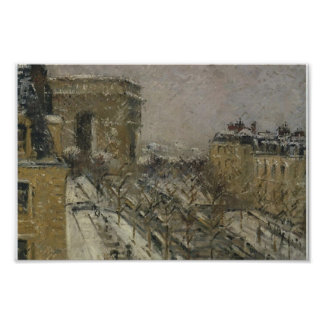 Arc de Triomphe in the Snow by Gustave Loiseau Poster