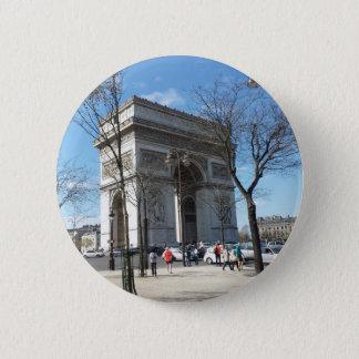 Arc de Triomphe, Paris, France 6 Cm Round Badge