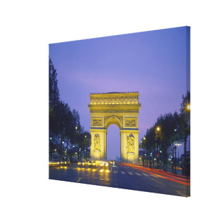 Arc de Triomphe, Paris, France, Canvas Print