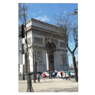 Arc de Triomphe, Paris, France Dry Erase Board