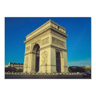 """Arc de Triomphe, Paris, France 5"""" X 7"""" Invitation Card"""