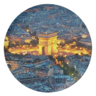 Arc de Triomphe, Paris, France Plate