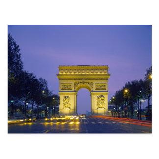 Arc de Triomphe Paris France Post Card