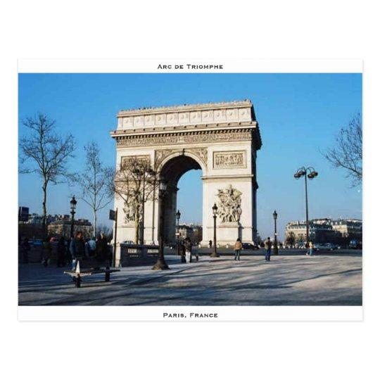 Arc de Triomphe, Paris, France Postcard