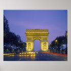 Arc de Triomphe, Paris, France, Poster