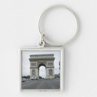 Arc de triomphe Silver-Colored square key ring