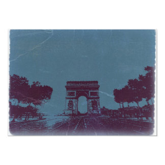 ARC DE TRIUMPH Paris 13 Cm X 18 Cm Invitation Card