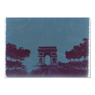 ARC DE TRIUMPH Paris 9 Cm X 13 Cm Invitation Card