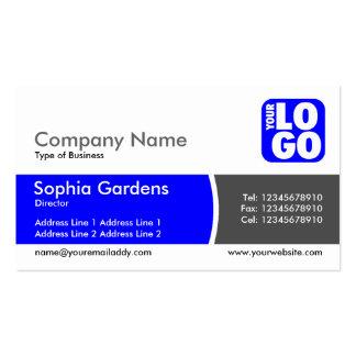 Arc Divided Band - Blue - Logo Business Card
