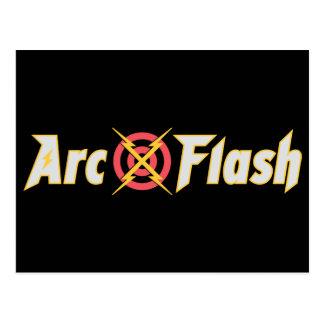 Arc Flash Black Postcard